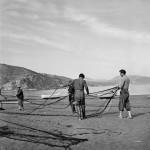 Fishermen with Netting. Genoa, Italy