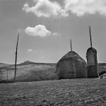 Haystacks. Northern Italy