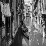Laundry and Gondola. Venice, Italy