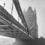 Tower Bridge, Fog. London, England